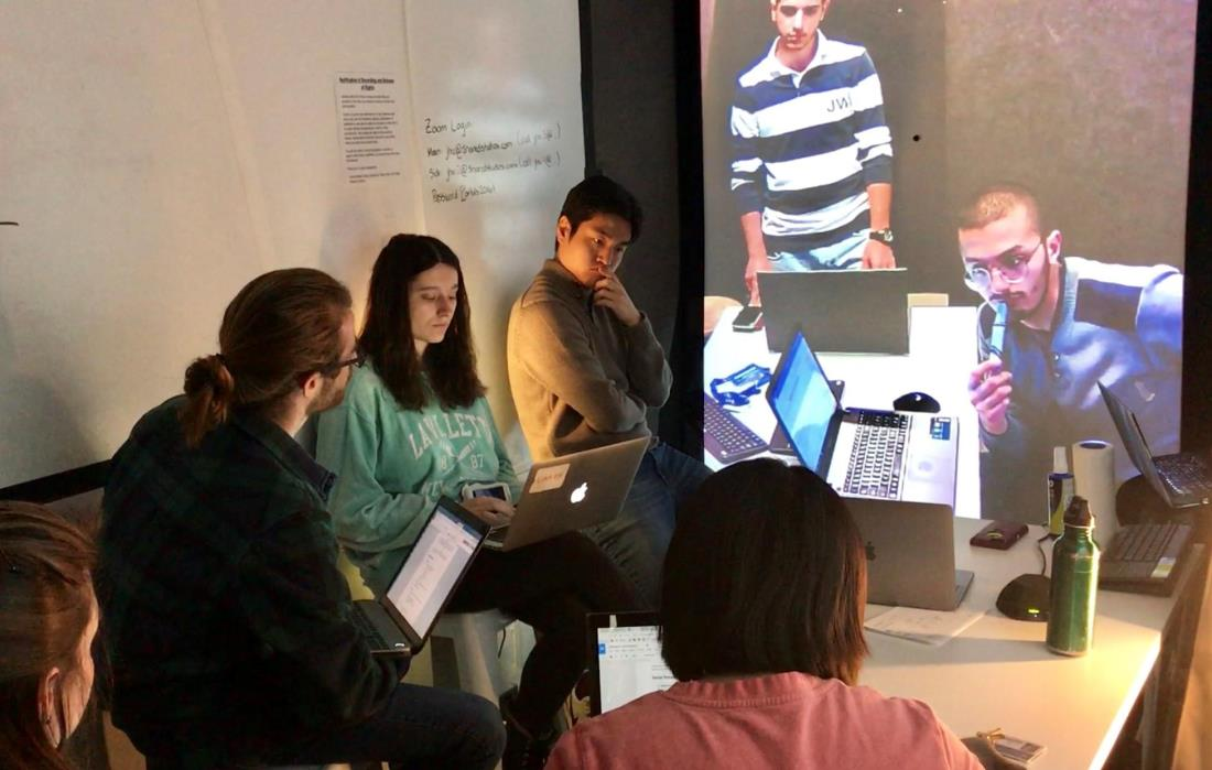 Students at Johns Hopkins University connect with students at the American University of Beirut through virtual exchange
