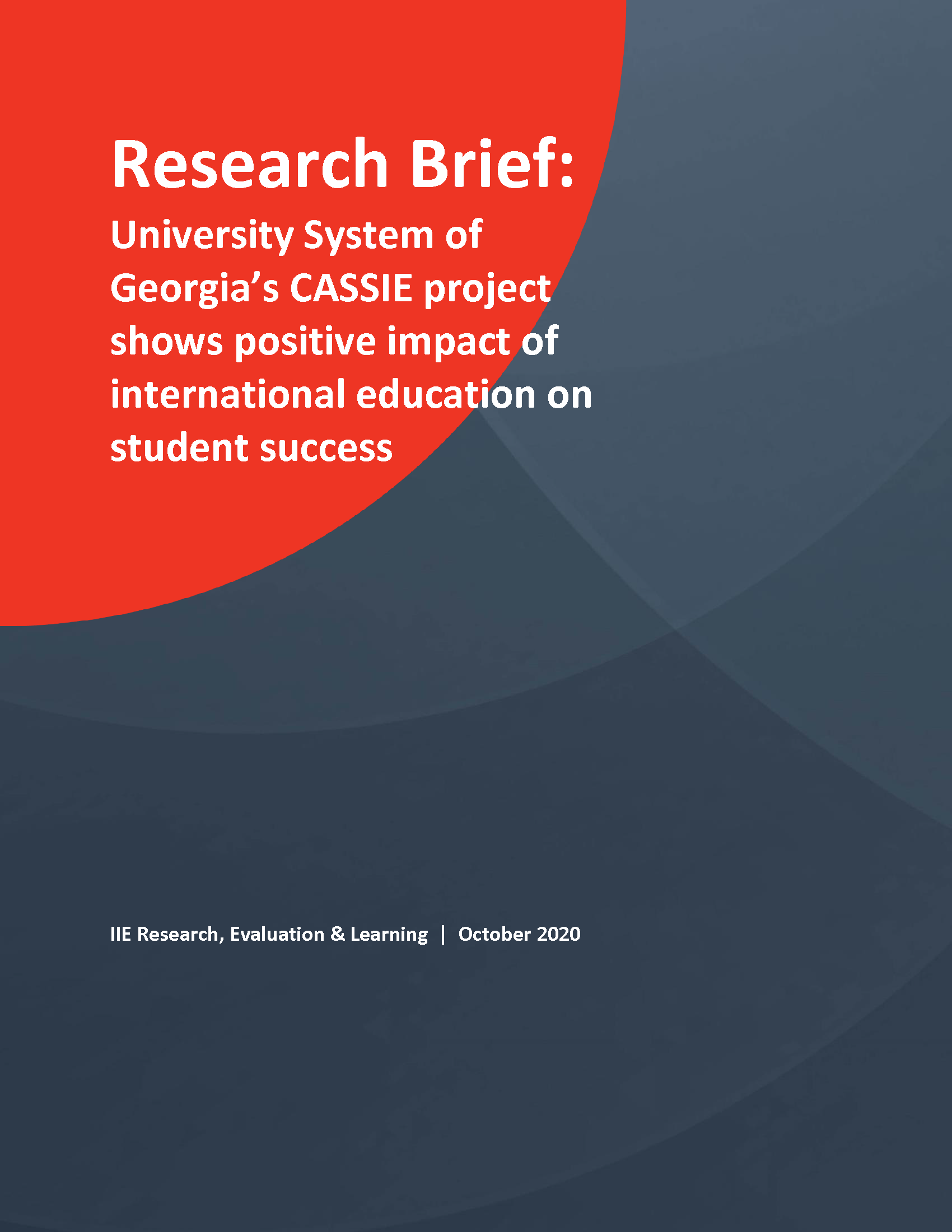 CASSIE Research Brief - cover page