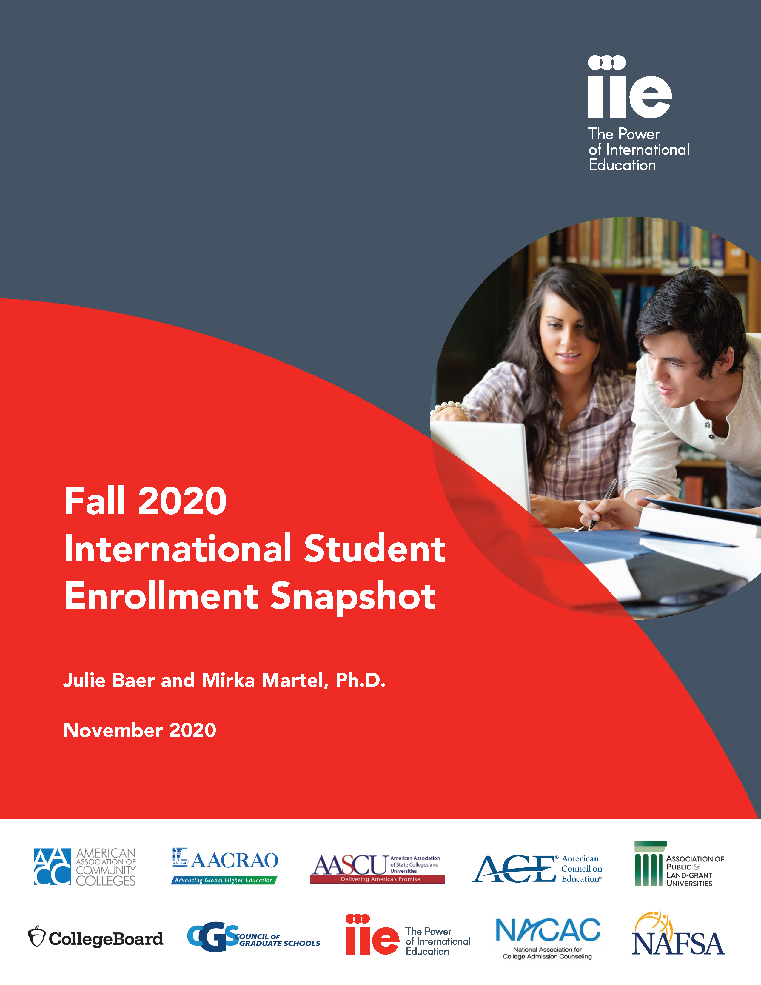Cover of the Fall 2020 Internaional Student Snapshot Report
