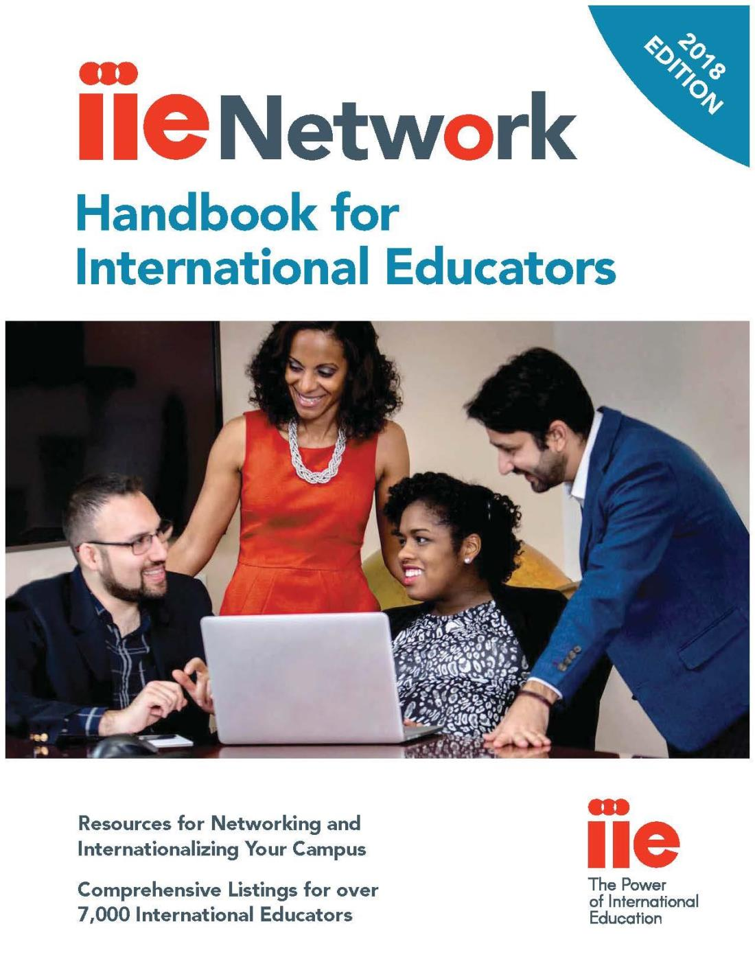 IIE Network Handbook 2018 Cover