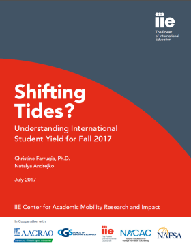 Report Cover: Shifting Tides - Understanding International Student Yield for fall 2017