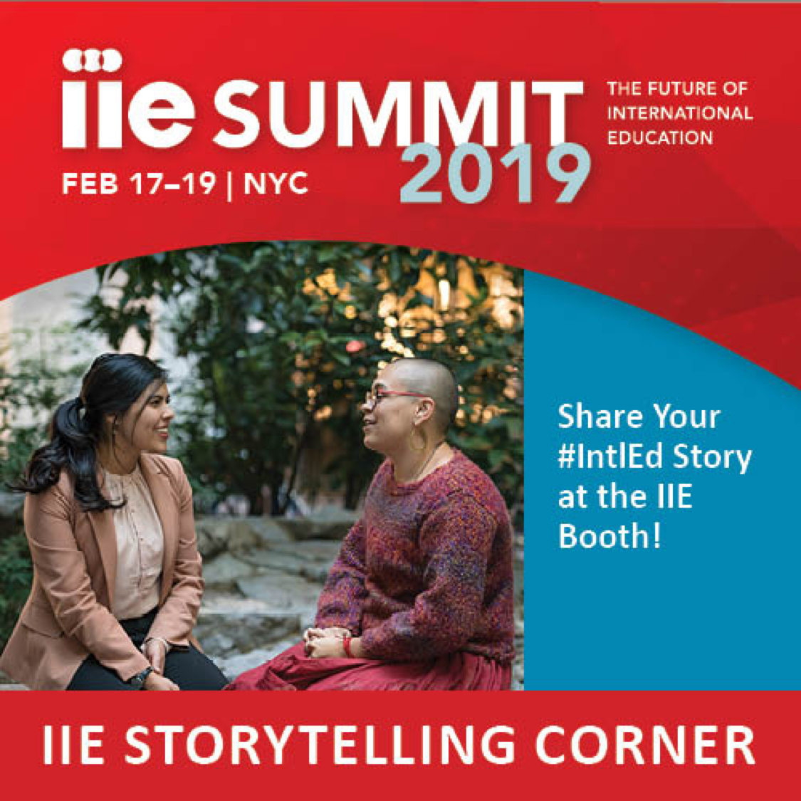 Participate in the Story Corner at the IIE Summit