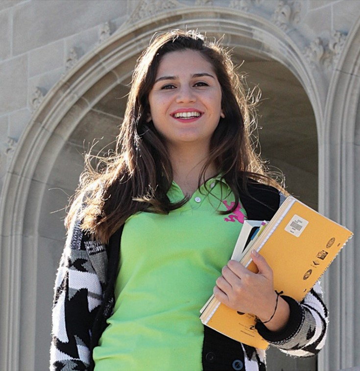 Araz Khajarian at her university