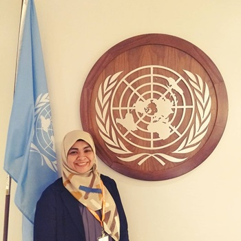 Septy Br. Tobing at the United Nations