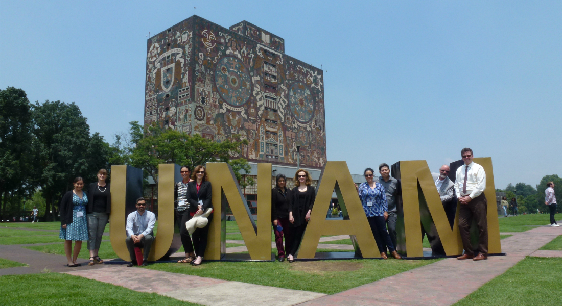 IAPP event in Mexico City, representatives of different U.S. Universities visiting Mexican Universities