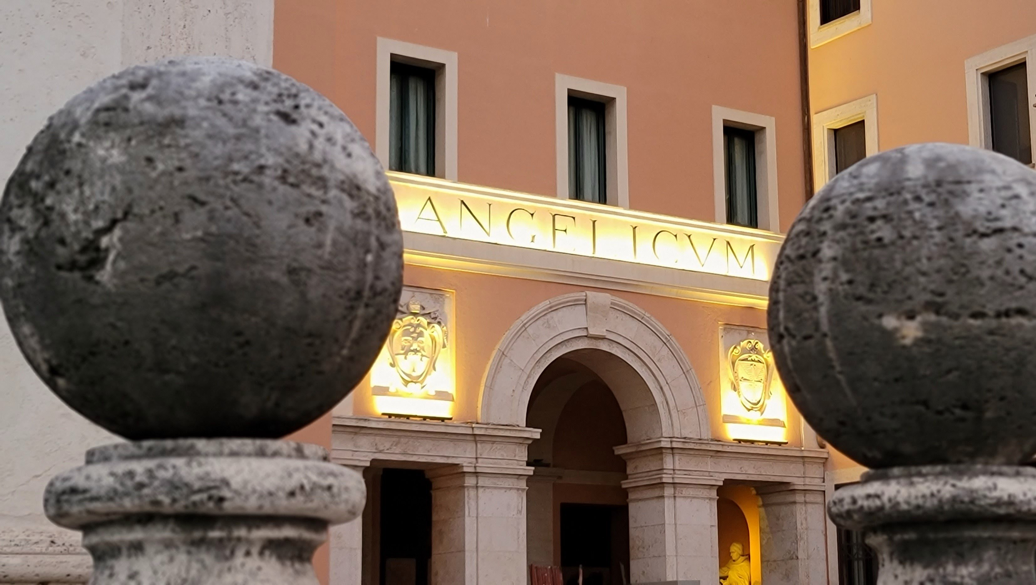 Entrance to the building of the Pontifical University of St. Thomas Aquinas (Angelicum)
