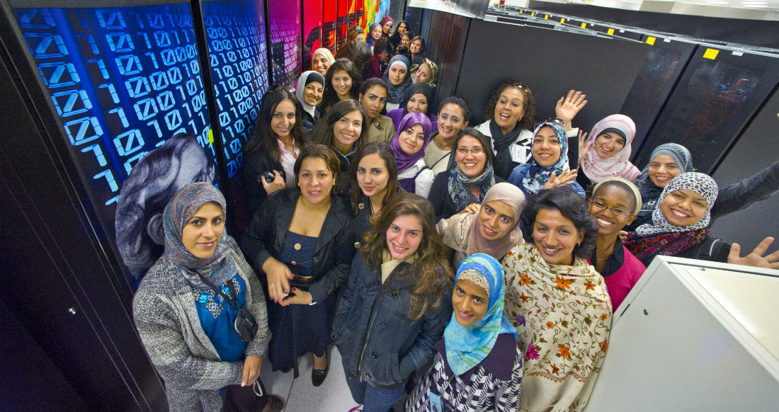 Photo: TechWomen Group Photo from Essma Redouane Salah