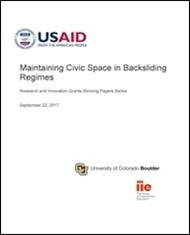 Maintaining Civic Space in Backsliding Regimes