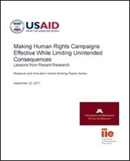 Making Human Rights Campaigns Effective While Limiting Unintended Consequences
