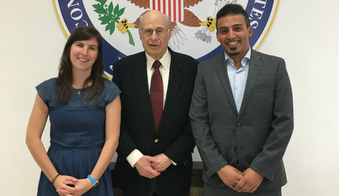 2017 Goldberg Prize winners with Victor Goldber