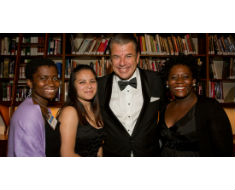 Photo: Western Union CEO Hikmet Ersek with Western Union Family Scholarship awardees at IIE Gala